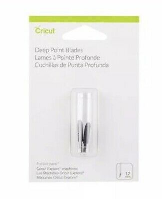 Cricut Deep Point Blades 2 Pack 2003535 For Explore New Fast Free Shipping