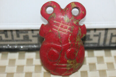 Chinese jade yongshan culture hand-carved mascot amulet