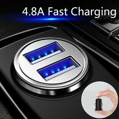 Quick Car Charger Fast Charging LED 24W 4.8A Dual USB Port for Sumsung iPhone