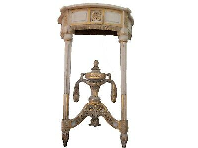 Antique French George III Marble top pier Console Table Louis XVI Neoclassical
