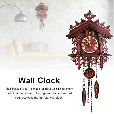 Wall Cuckoo Clocks Black Forest Wooden Hand-Carved Cuckoo Clock House Home Decor