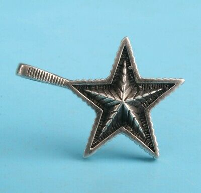 Vintage China 925 Silver Pendant Statue Stars Handmade Mascot Collection