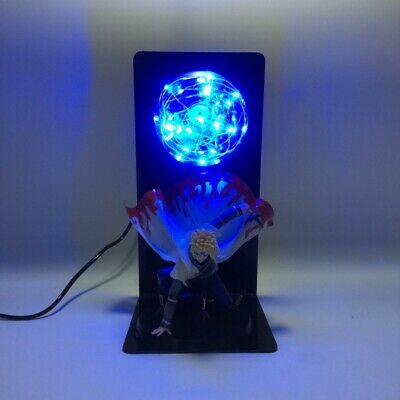 "4th Gen Naruto Minato Namikaze DIY Anime Statue Figurine Figures 14"" LED Lamp"