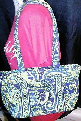 Vera Bradley rhythm and blues tote  ( retired pattern) carry on tote
