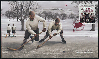 Canada new issue on FDC - Black History Month, Colored Hockey Championship