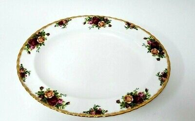 """Royal Albert Old Country Roses Relish Appetizer Tray Platter 1962 England 14"""""""