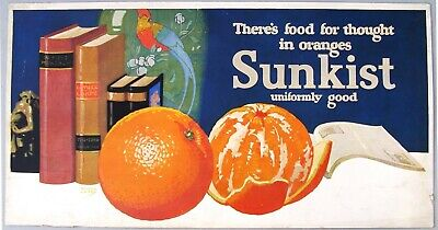 1920's Trolley Car Advertising Card: SUNKIST Oranges by Maurice Logan
