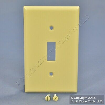 Leviton Ivory EXTRA DEEP 1-Gang Toggle Switch Cover Wall Plate Switchplate 86301