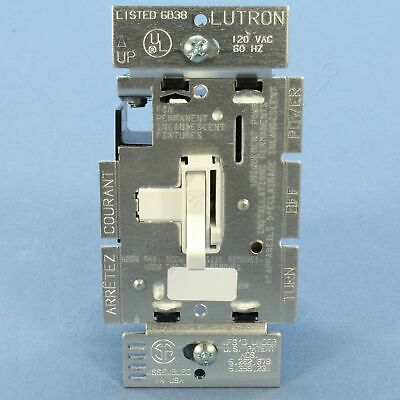 New Hubbell White Toggle ON/OFF Light Dimmer Switch Single Pole 600W RAY600PW