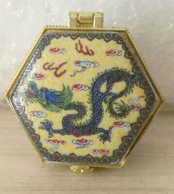 Jewelry box painted ancient Chinese flying dragon price for one piece don't miss
