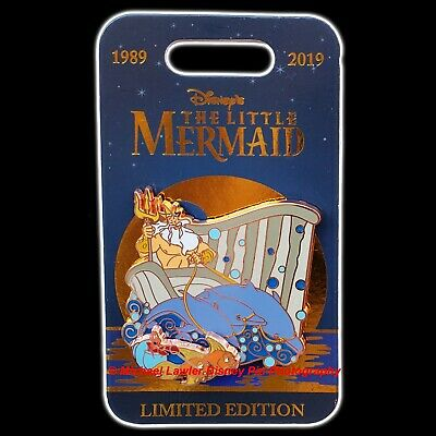 Disney Parks 30th Anniversary Little Mermaid King Triton Limited Edition LE Pin