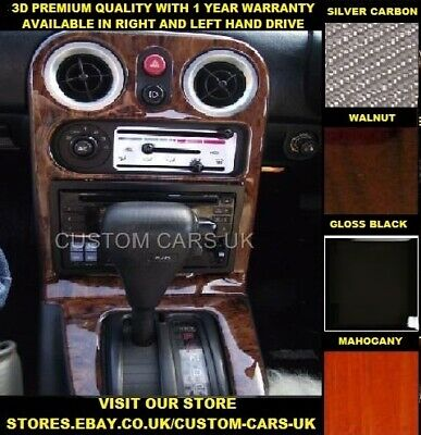 MAZDA MX5 1989-1998 MK1 Miata Eunos Roadster Dash Kit Walnut-Carbon-Piano Black