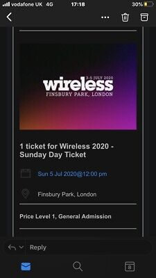 2020 Wireless Festival Sunday Ticket Message Me Before Buying!!!!!!