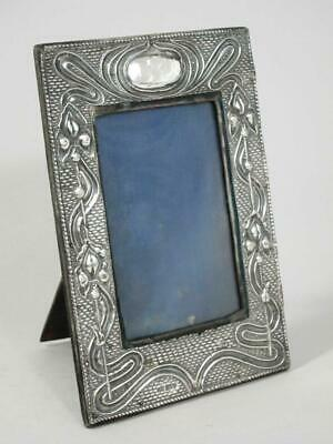 STUNNING ANTIQUE ART NOUVEAU STERLING SILVER PHOTO PICTURE FRAME 1905 h