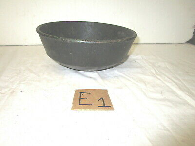 Antique vintage cast iron round bottom pot container--used for???