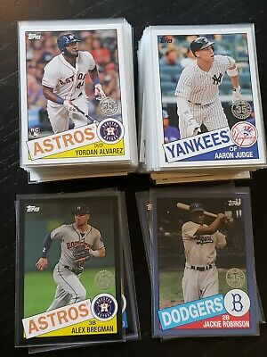 2020 Topps Series 1 1985 Inserts w Blue Black parallels You Pick - Trout, Lux +