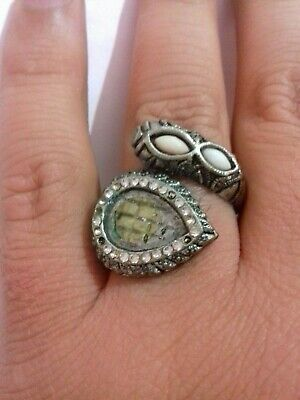Ancient Rare Ring Roman Silver Color Snack Extremely Authentic Artifact
