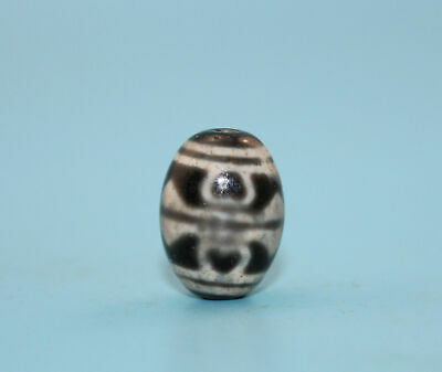 21*15 mm Antique Dzi Agate old 6 eyes Bead from Tibet **Free shipping**