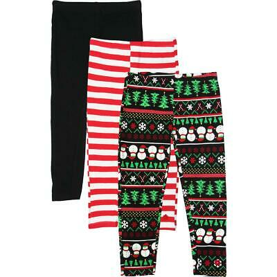 Limited Too Girls Black 3 Pack Holiday Set Leggings L 6X BHFO 2367