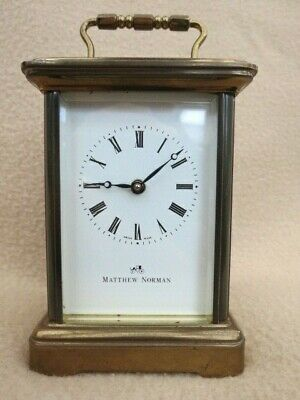 Vintage Matthew Norman Brass Carriage Clock