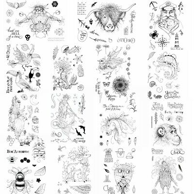 Beautiful Fancy Animals Clear Stamp Seal Scrapbooking Embossing Crafts Album