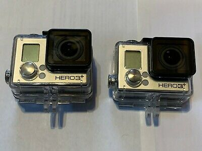 2 Gopro Hero 3+ Black Edition and Silver Edition with lot of accessories