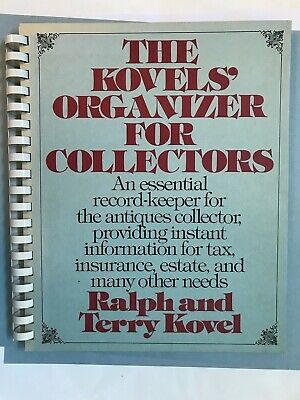 KOVELS Organizer for COLLECTORS Binder Record Keeping for Antiques Estate Etc.