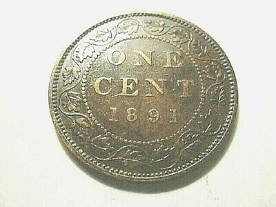 Canada 1891-SD-SL Large Cent