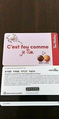 1 Tim Hortons gift card 0$ in French