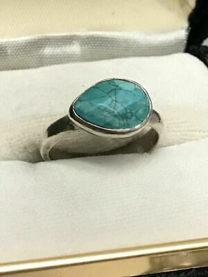 Amazing Vintage 925 Silver Ring Turquoise Woman Charm Ring