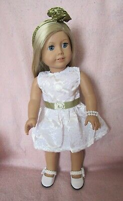 Black /& White Pearl Shoes fit American Girl Doll 18 Inch Clothes Seller lsful
