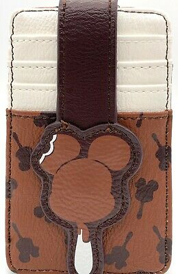 Disney Parks Mickey Icon Ice Cream Bar Ears Credit Card Holder ID Wallet - NEW
