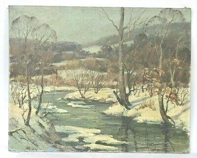 John Cowan Templeton (1880-1958) , Oil on Canvas Landscape Painting (no frame)