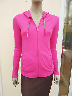 Bench - Womens Bright Pink Hooded Zip up Top - Size S