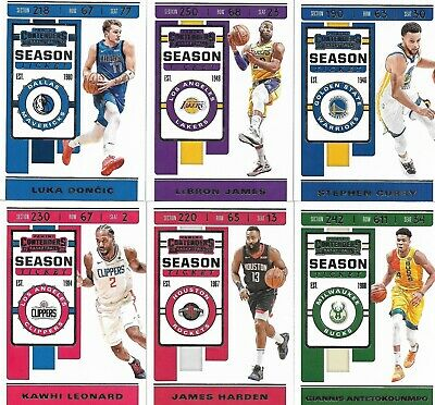 2019-20 Panini Contenders Basketball - Season Ticket Cards #1-100 - You Pick!
