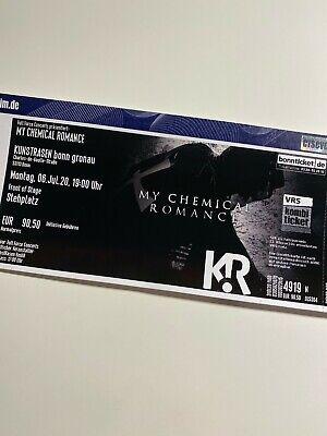 My Chemical Romance Konzert Ticket |FRONT OF STAGE | Bonn 06.07.2020 | SOLD OUT