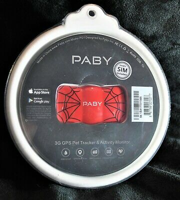Paby ~ 3G Pet Tracker & Activity Monitor ~ Model Pd1 ~ Red ~Free Shipping!!!