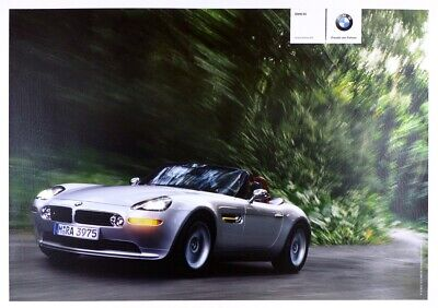 1999 BMW Z8 Introduction poster NOS Linen mounted