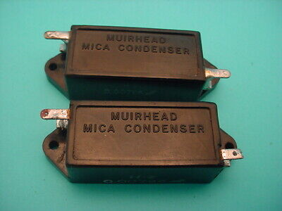 2 x  MUIRHEAD FIXED MICA CAPACITOR * VINTAGE 1920s * 7960 pF * TESTED *