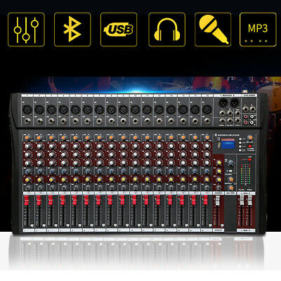 4000 Watt 16 Channel Professional Mixer power Sound mixing Console Audio Live DJ