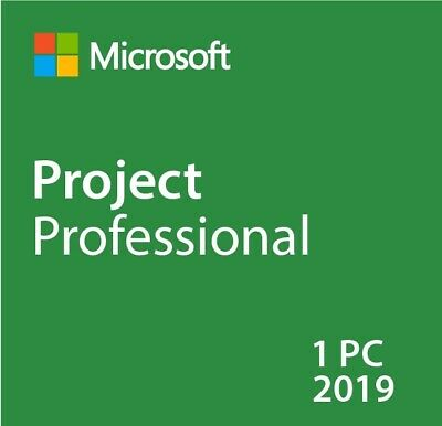 Microsoft Project Professional 2019 License Key 1 PC ESD Delivery