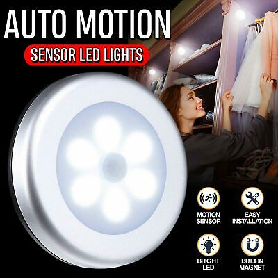 3x6 LED Indoor Motion Sensor Night Battery Operated Light Outdoor Stairs Hallway