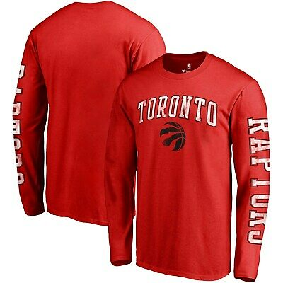 Toronto Raptors Fanatics Branded Distressed Arch Primary Logo Long Sleeve