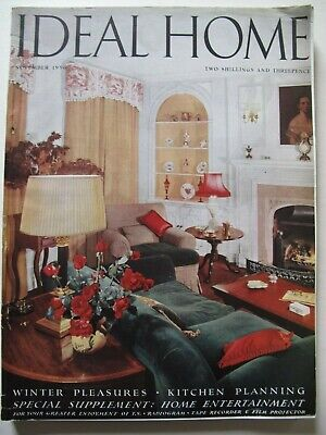 IDEAL HOME November 1956  - Vintage Interiors, Architecture & Homewears