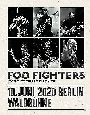 1 Ticket FOO FIGHTERS Waldbühne Berlin, 10.6.2020