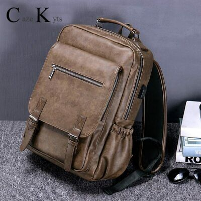 Hot new sales men's retro fashion multi-function large capacity backpack travel