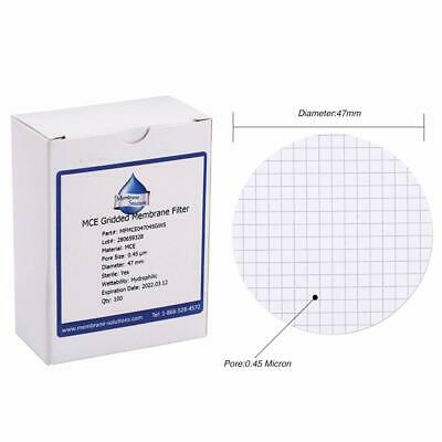 100XMCE Membrane Filter Lab Supply Sterile MCE Gridded Membrane Filter47mm0.45μm