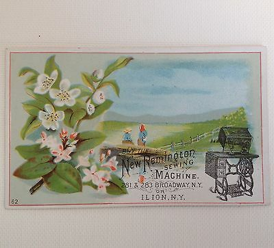 Victorian Trade Card Ilion NY Remington Sewing Machine Vintage Ad Card