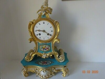 A stunning and very impressive French Rococo porcelain clock COLLECTION ONLY