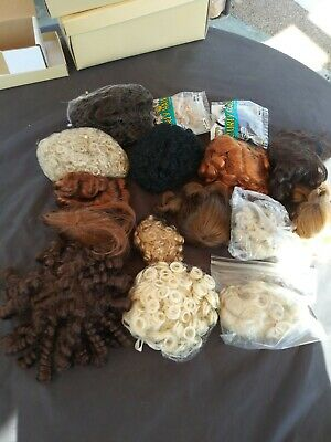 Vintage Lot 16 Doll Wigs All different Sizes, Colors & Styles Award Winner Owner